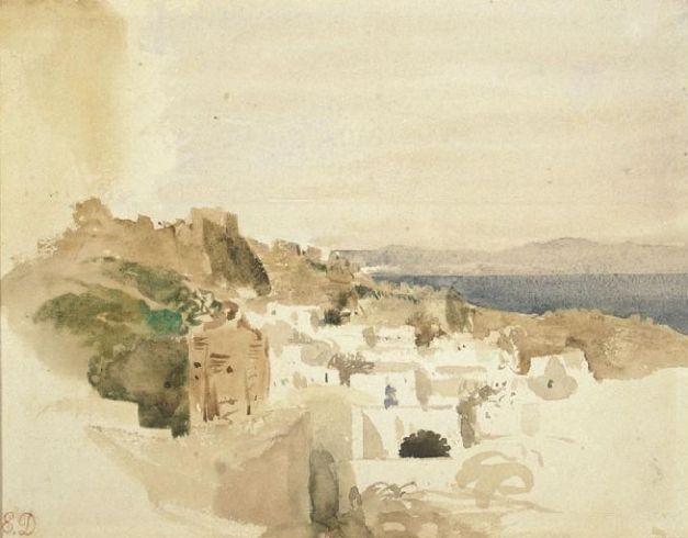 Aguarela de Eugene Delacroix