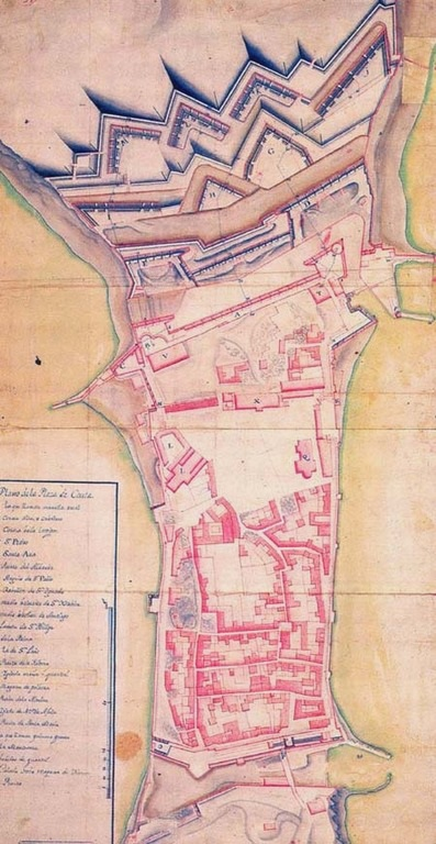 As Reais Muralhas de Ceuta em 1720