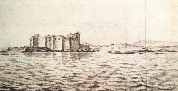 Castelo Real de Mogador de Adriaen Matham 1641