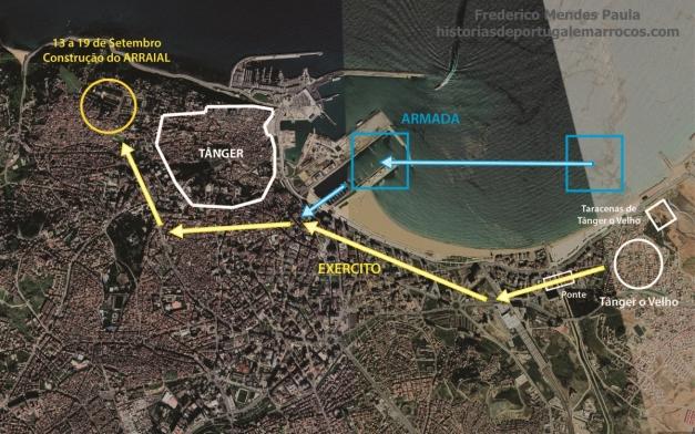 Construção do arraial em Tanger