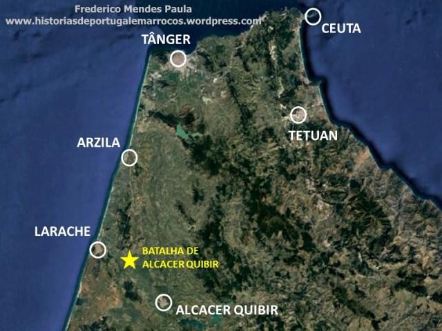localização da Batalha de Alcacer Quibir 1