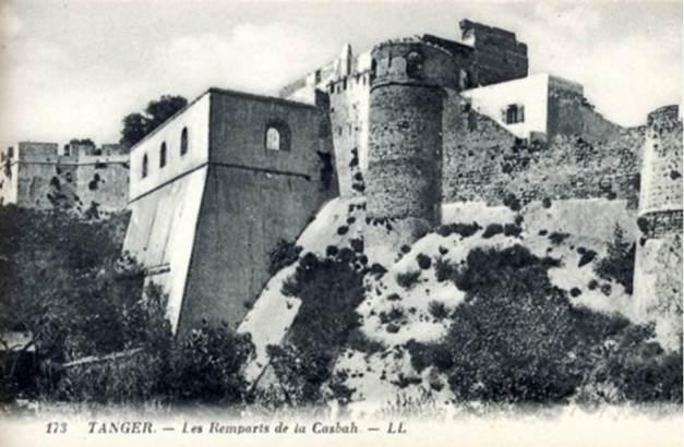 Muralhas de Tânger vistas de Norte