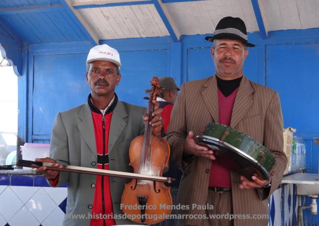 Musicos de rua em Essaouira