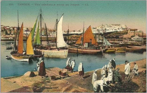 O porto de Tânger