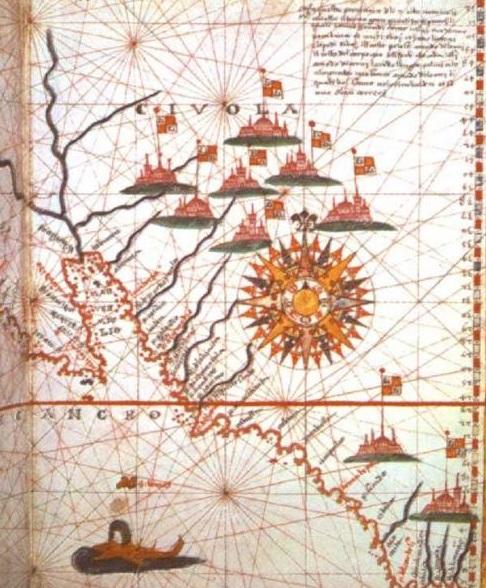 Mapa da America do Norte, de Joan Martines, 1758