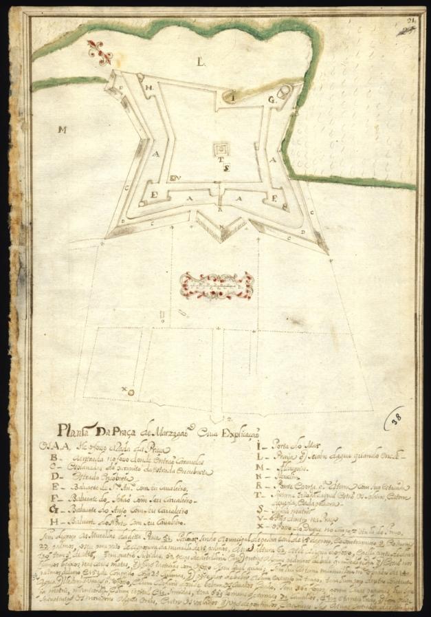 Planta da Praça de Mazagão em 1727 de João Thomás Correa in Livro de várias plantas deste Reino e de Castela, 1699-1743