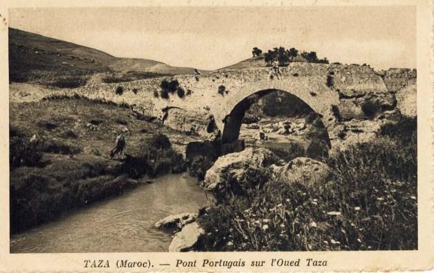 Postal antigo da Ponte sobre o Oued Taza