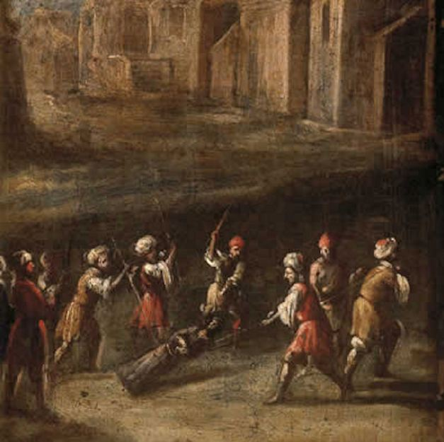 The_Christ_of_Medinaceli_being_pulled_through_the_streets_of_Meknes_Juan_de_VALDES_LEAL_1681