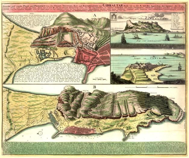 Gibraltar em 1733