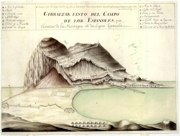 Gibraltar visto do campo dos Espanhois