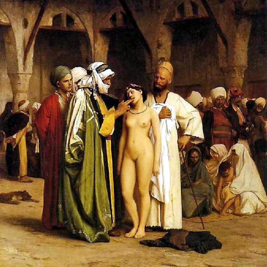 Jean-Léon Gérome, «Marché d'esclaves» (1866).