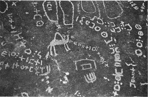 Tifinaghs et gravures du col des « sandales » (tighatimin) Ahaggar