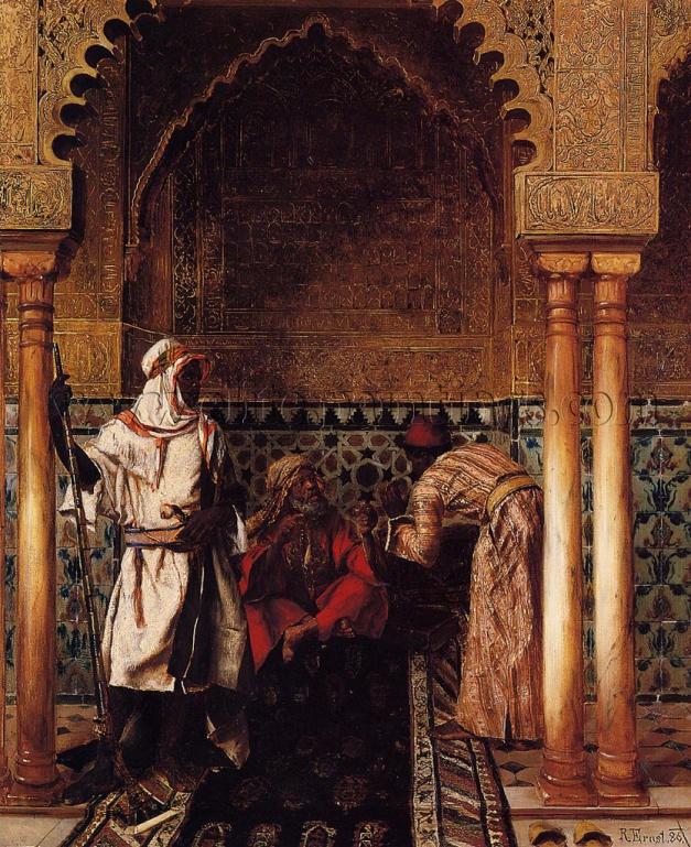 Ernst_Rudolph_An_Arab_Sage_artist_painting_reproduction_handmade_oil_canvas_or_print_art_deco