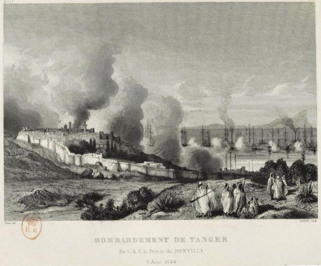 1844 Bombardement de Tanger par l'escadre du prince de Joinville
