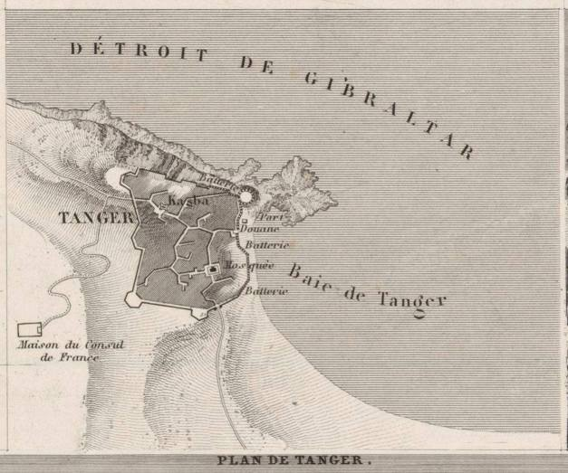 1844 Plan de Tanger