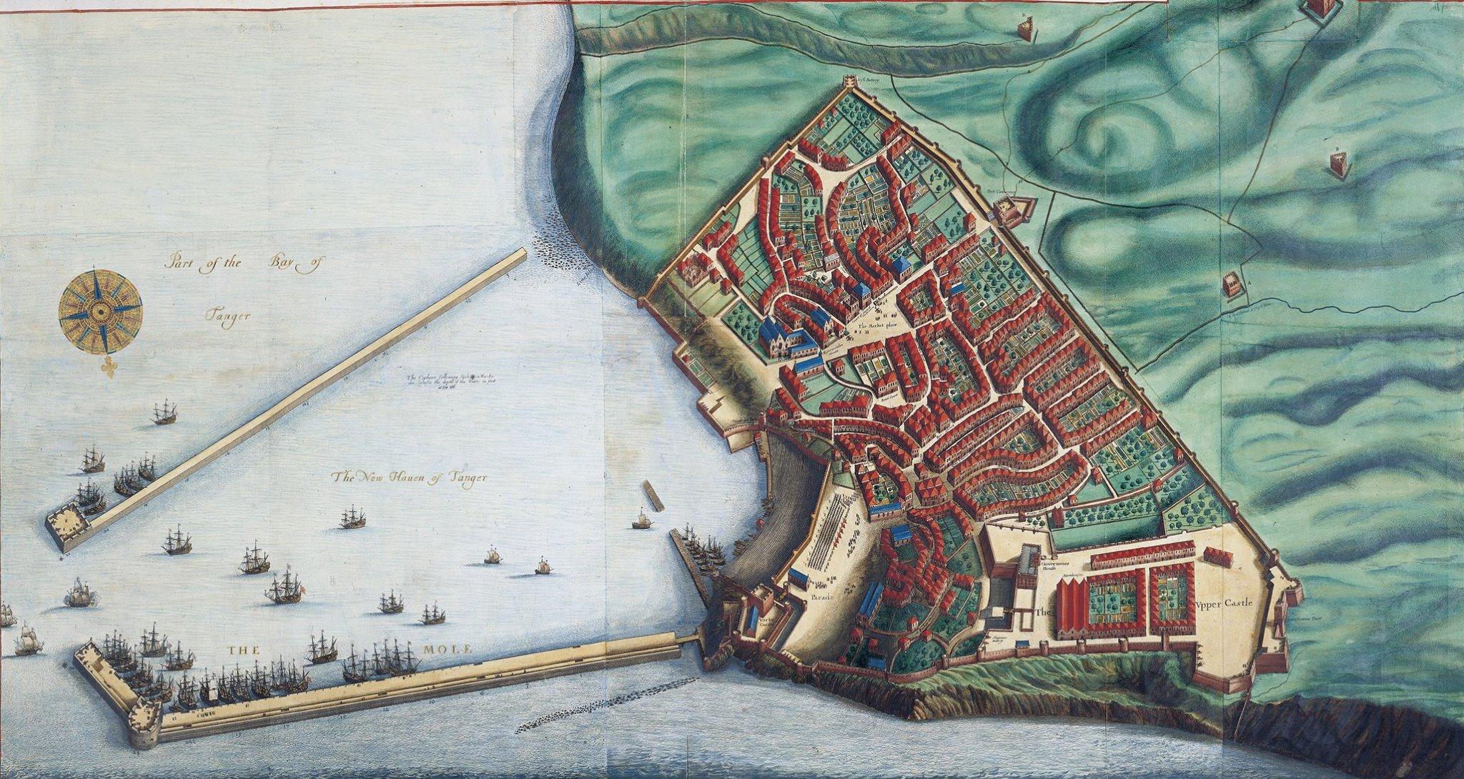 Tangier por Jonas Moore 1670