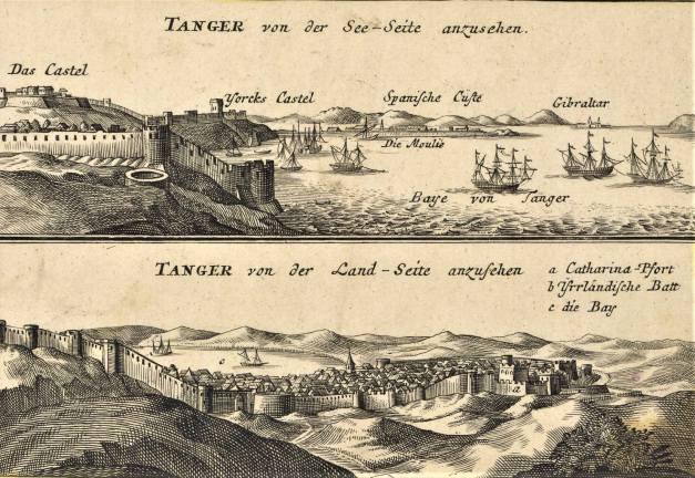 Tânger em duas gravuras alemãs de 1730, autor desconhecido