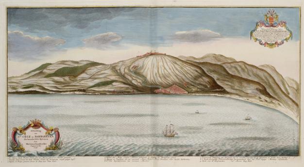 Gravura da Fortaleza de Santa Cruz da Berbéria de 1740